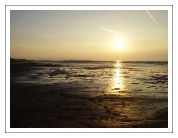 Hoylake Sunset out over the river Dee.